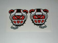 AFL NEW JERSEY RED DOGS MINI SIZE FOOTBALL HELMET DECALS