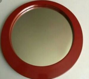CRATE & BARREL RED JAZZ 369-449 MIRROR MEDIUM 11.5 wide  x 1.125.great qaulity