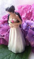 Fantástica relación calidad-Wedding Cake Topper Decoración estatuilla novia y el novio Rose