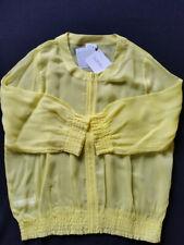 LA PERLA Jacke Bluse leicht transparent gelb Gr.38--UK12**NEU Originalkarton