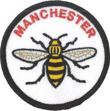 Manchester Bee Embroidered Patch 7cm Dia