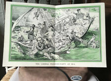 More details for antique political poster - liberal party 1913 pre ww1 satirical  punch edition