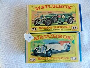 MATCHBOX MODELS of YESTERYEAR . x 2. Series 2 with BOXES.   #CP#