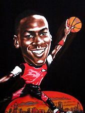 MICHAEL JORDAN youth size 7 tee basketball kids T shirt classic caricature toon