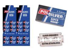 POLSILVER SUPER IRIDIUM DOUBLE EDGE RAZOR - 100 PCS BLADES FREE SHIPPING