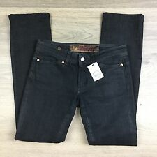 Notify Anenome Black Glossy Skinny Women's Jeans Size 28 RRP $440 W30 L30.5 (U8)