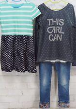 Gap Kids Outfit Set: Dress + GapFit This Girl Can T-Shirt + Bling Jeans M (8-9)