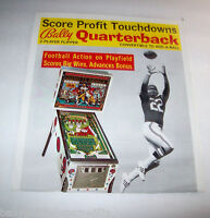 BALLY QUARTERBACK 1977 EM ORIGINAL PINBALL MACHINE PROMO ADVERTISING FLYER