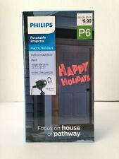 Christmas Philips Focusable Projector HAPPY HOLIDAYS Red P6 NEW