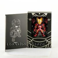 Iron Man Mark 3 Ironman MK III Toy Action Figure w/Sound Control LED Light BOX