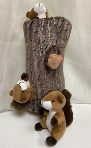 Ifoyo Squeak Dog Toys 3x Squirrels