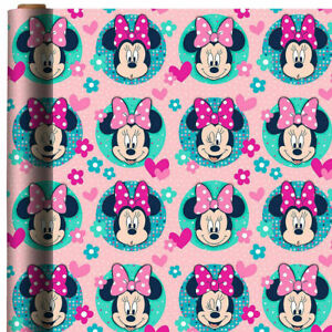 MINNIE MOUSE WRAPPING PAPER ROLL GIFT WRAP ANY OCCASION 20 SQ. FEET NEW