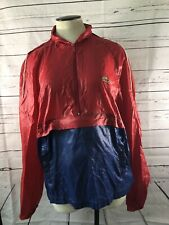 Hong Kong IZOD LACOSTE Red Hooded Pullover Rain Jacket Windbreaker M