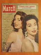 Paris Match 283 du 28/8/1954-La mode nouvelle-L'Europe dans l'impasse