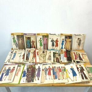 Vintage Sewing Pattern Lot 28 Dresses 1970s all Bust 32 32.5 sz 10 Complete PT2