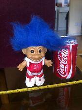 Vintage Russ Troll Foot Player Red 21 Kit Troll Doll Blue Hair