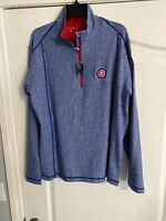 NWT Antigua Golf L Chicago Cubs 1/3 Zip Pullover MLB