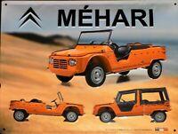 PLAQUE METAL vintage CITROËN MEHARI - 40 x 30 cm