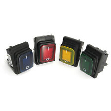 Waterproof 4 Pin 12V LED Rocker Toggle Switch Momentary Car Boat Marine On-off