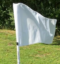 Set of four OTTOPT foldable WHITE corner flags with posts, spike & carry bag