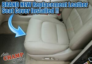 For Lexus 1998-2007 LX470 Roof Basket -Driver Side Bottom Leather Seat Cover Tan
