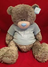 """ME TO YOU BEAR TATTY TEDDY X-LARGE 24"""" JUST FOR YOU BLUE T-SHIRT PLUSH GIFT"""