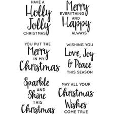 Jolly Sentiments Collection Clear Unmounted Rubber Stamp Set Kaisercraft CS312