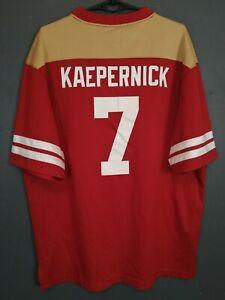 MENS SAN FRANCISCO 49ers COLIN KAEPERNICK NFL FOOTBALL SHIRT JERSEY SIZE L LARGE