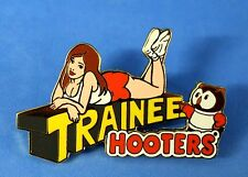 HOOTERS SEXY STAFF GIRL TRAINEE LAPEL PIN WITH HOOTIE THE OWL
