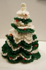"""New listing Beautiful Vintage Hand-Crafted Crocheted 13"""" Christmas Tree Sleeve"""
