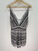 Bec + Bridge Black And White Jumpsuit Romper Size 6 EUC Casual Beach