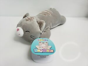 """Kellytoy Squishmallows Hug Mees Laying Tally Cat 14"""""""