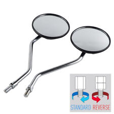 10mm Chrome Circle Rearview Mirror Set For Yamaha AT1 CT1 DT1 R3 YG1 TX500