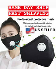 1x Cotton Face Mask with 2 PM 2.5 Activated Carbon Mask Filter Washable Reusable