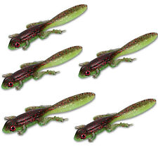 "15PCS Soft Silicone Fishing Lure Wobblers Bass Frog Bait 3.15""-8cm/3.5g Lifelike"