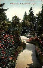 Portland Amerika USA Oregon AK 1911 Walk in the Park Parkanlage Flowers gelaufen