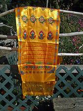 VIBRANT PRINTED XL KHATA KHATAK TIBETAN BUDDHIST OFFERING SCARF 8 LUCKY SYMBOLS