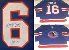 LOS ANGELES KINGS MARCEL DIONNE AUTOGRAPHED HOCKEY HALL OF FAME JERSEY W/ HOF 92