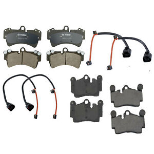 🔥Front and Rear Disc Brake Pads with Sensors Kit For Audi Q7 Porsche Cayenne🔥