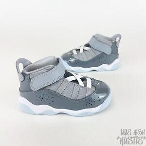 Nike Air Jordan 6 Rings Toddler Size 7C Cool Grey White Sneakers