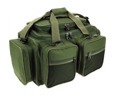CARP FISHING TACKLE BAG DELUXE GREEN CARRYALL MULTI POCKET HOLDALL XPR NGT