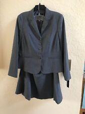 EMILY Women 2PC Gray Career Skirt Suit Size 14