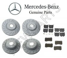 Genuine Mercedes Benz E55 CLS55 AMG 03-06 Front & Rear Disc Brake Rotors & Pads