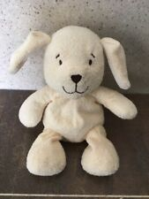 TESCO HUGGING FRIENDS CREAM PUPPY DOG 2002 SOFT BABY COMFORTER HUG TOY