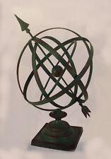 "14""Diameter Iron Garden Arrow Armillary Sphere/Sundial Rustic Green Vertigris"