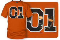 Dodge Charger t-shirt, Dukes of Hazzard Style t-shirt Orange- Wicked Metal