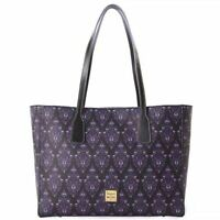 New Disney Parks Dooney & Bourke Haunted Mansion Purple Wallpaper Tote Purse