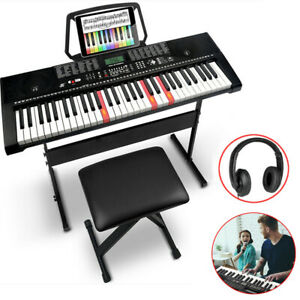 Musical 61 Full Size Weighted Keys Electronic Keyboard Digital Piano LCD Screen