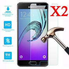 2Pcs 9H+ Protection Écran En Verre Trempé For Samsung Galaxy A3 A5 A7 2016/2017