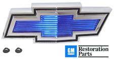 71-72 Chevy C10/K10 Truck Suburban Blue & Chrome Grill Bow-Tie Emblem